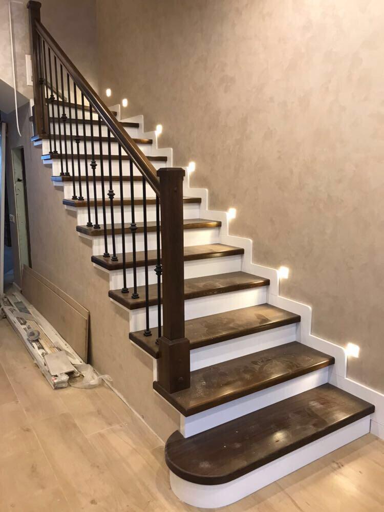 варианты отделки лестницы из бетона
